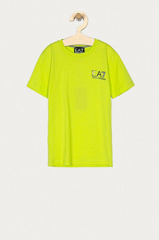 žlutě zelená EA7 Emporio Armani - Dětské tričko 104-164 cm Chlapecký