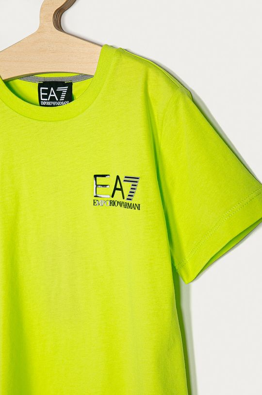 EA7 Emporio Armani - Dětské tričko 104-164 cm žlutě zelená