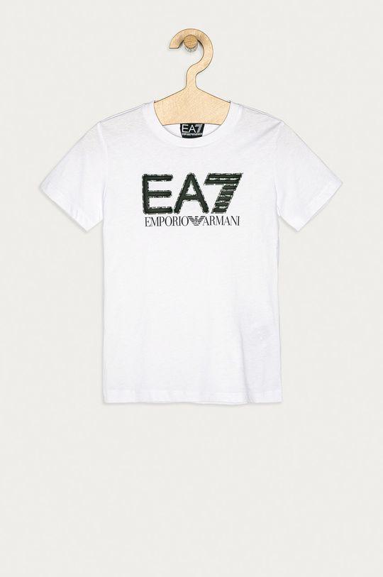 alb EA7 Emporio Armani - Tricou copii 104-152 cm De băieți