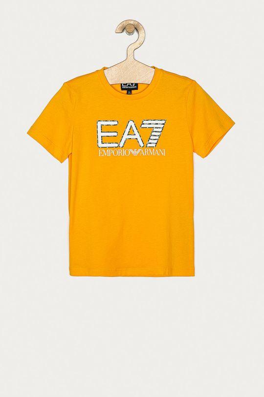 mustar EA7 Emporio Armani - Tricou copii 104-152 cm De băieți
