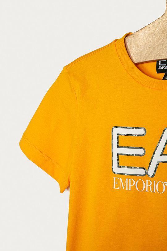 EA7 Emporio Armani - Tricou copii 104-152 cm mustar