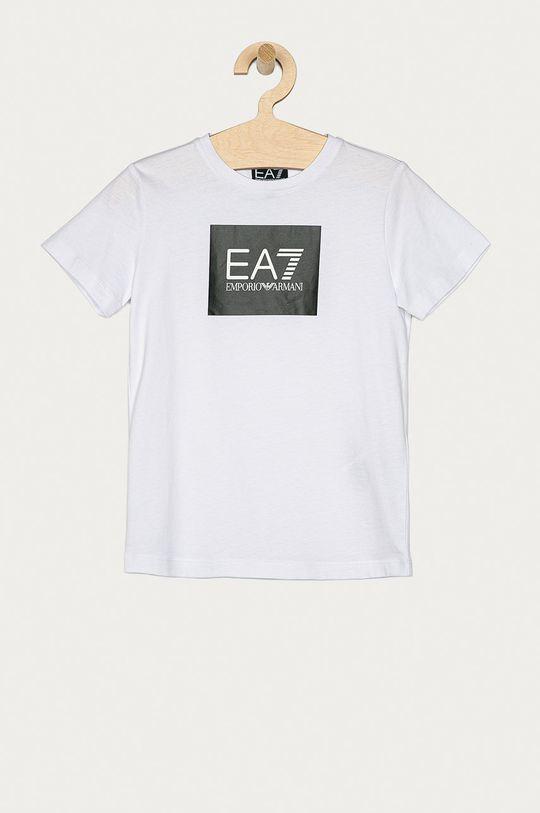 biela EA7 Emporio Armani - Detské tričko 104-164 cm Chlapčenský