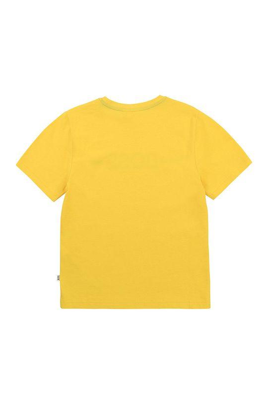 Boss - T-shirt dziecięcy żółty