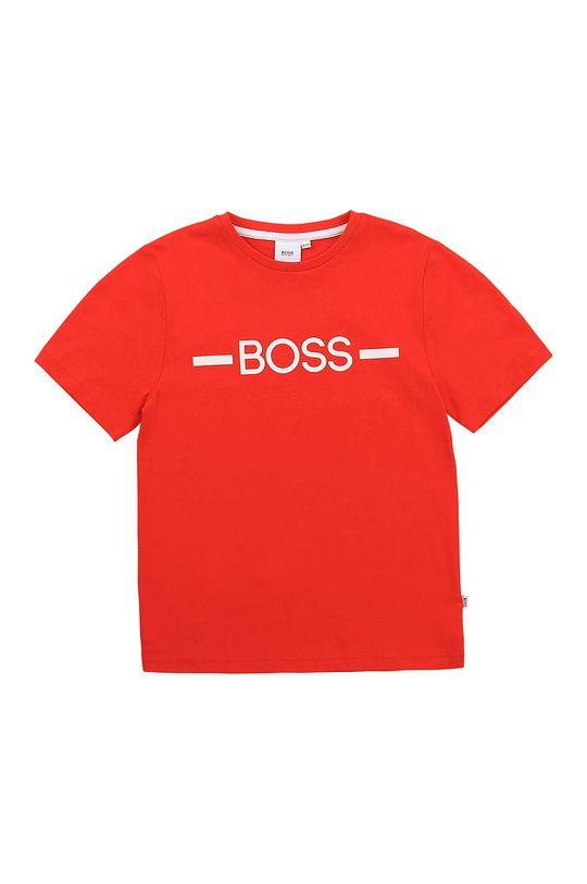 czerwony Boss - T-shirt dziecięcy Chłopięcy