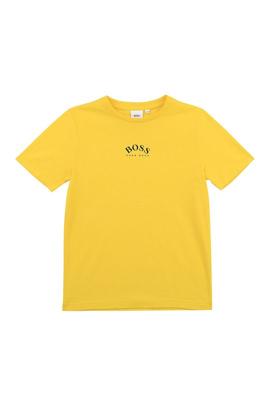 żółty Boss - T-shirt dziecięcy Chłopięcy