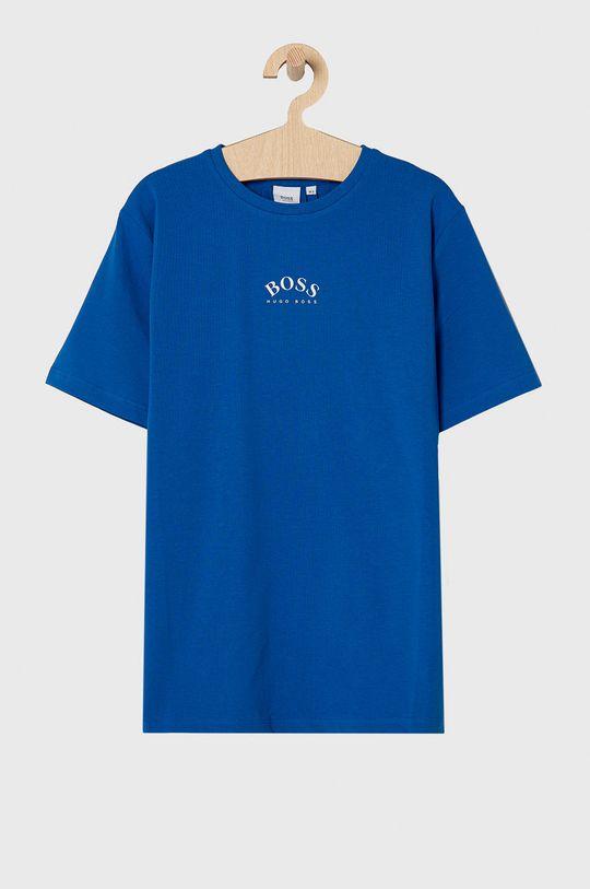 niebieski Boss - T-shirt dziecięcy Chłopięcy