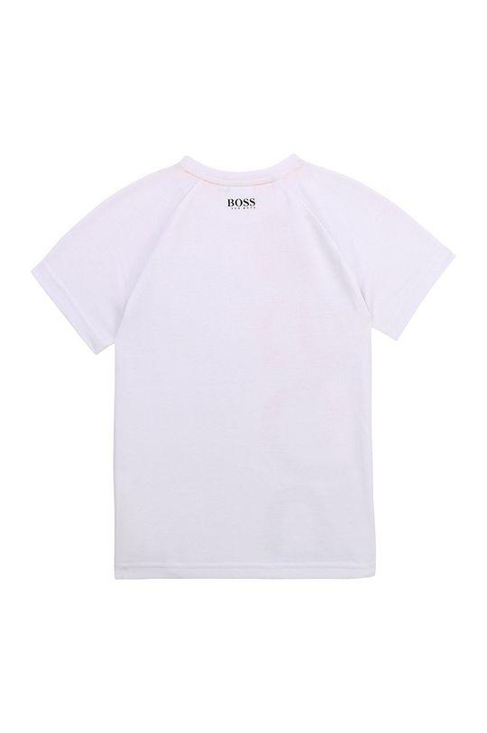 Boss - T-shirt dziecięcy biały
