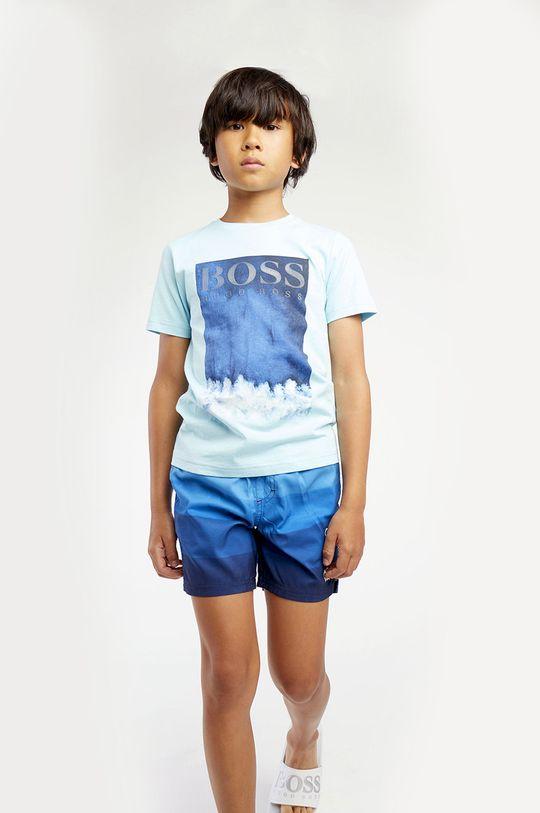 jasny niebieski Boss - T-shirt dziecięcy Chłopięcy