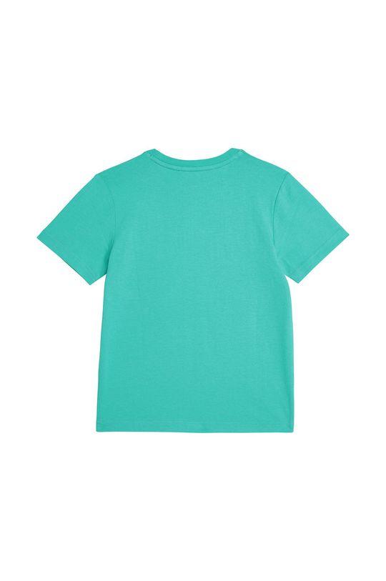 Dkny - T-shirt dziecięcy 102-108 cm turkusowy