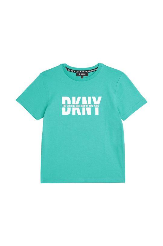 tyrkysová Dkny - Dětské tričko 162-174 cm Chlapecký