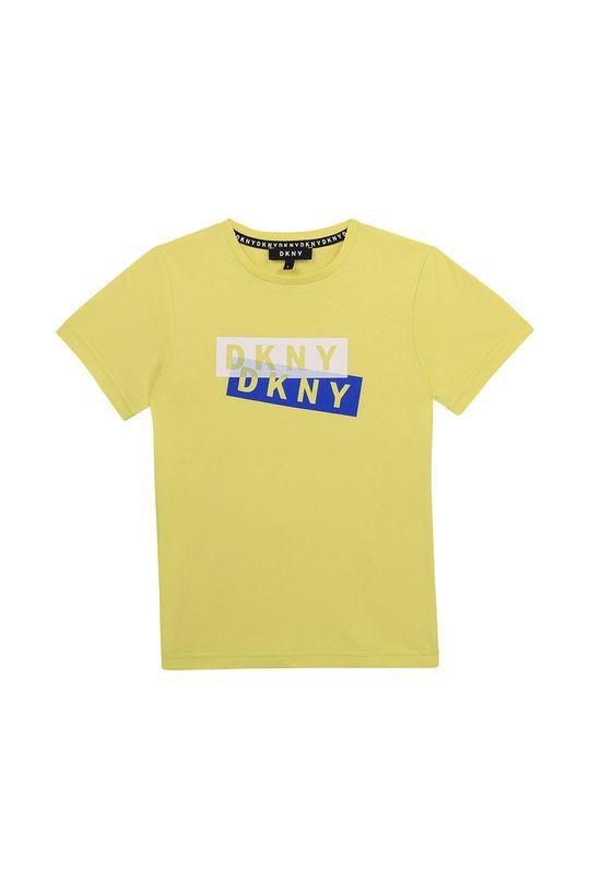 galben deschis Dkny - Tricou copii De băieți
