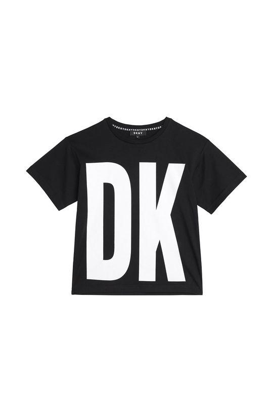 czarny Dkny - T-shirt dziecięcy 114-150 cm Chłopięcy
