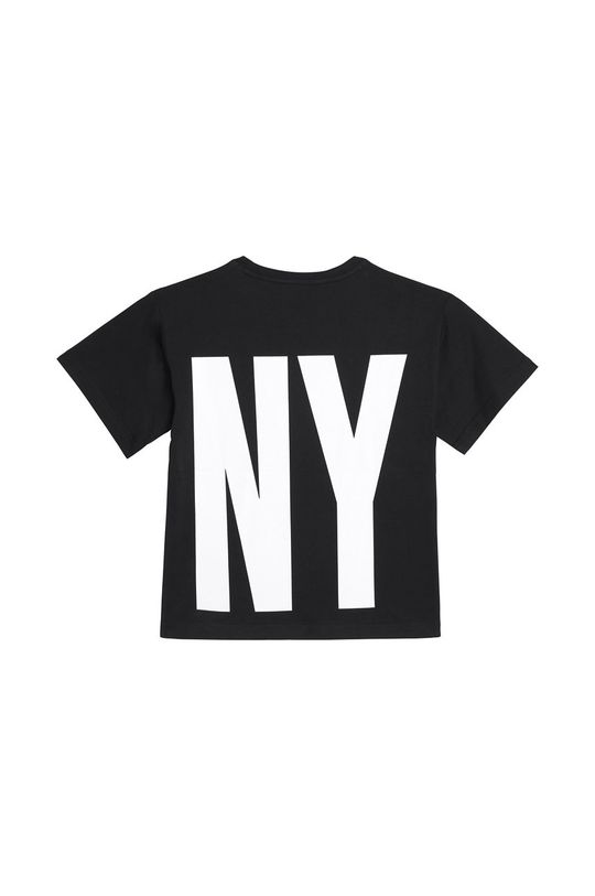 Dkny - T-shirt dziecięcy 114-150 cm czarny
