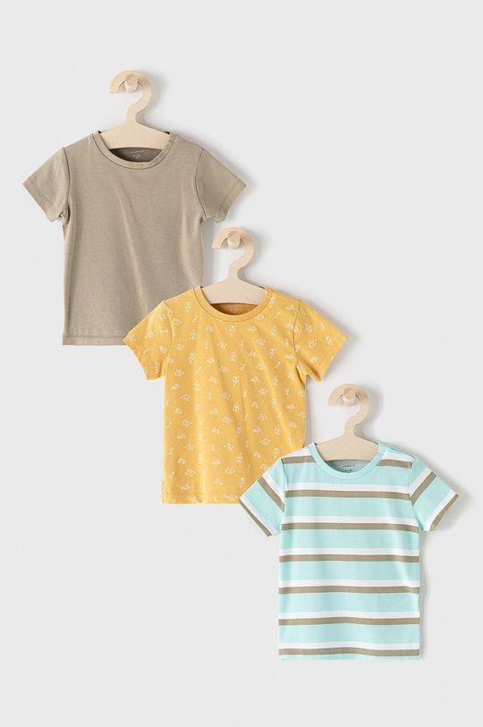 vícebarevná Name it - Dětské tričko (3-pack) Chlapecký