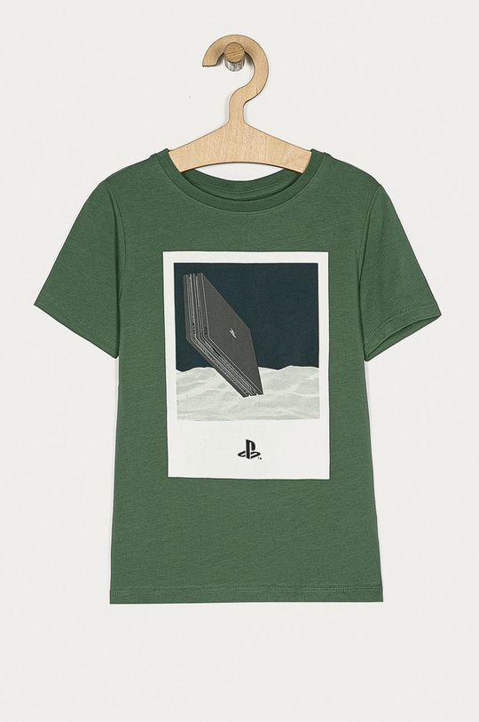 темно-зелений Name it - Дитяча футболка 116-152 cm Для хлопчиків