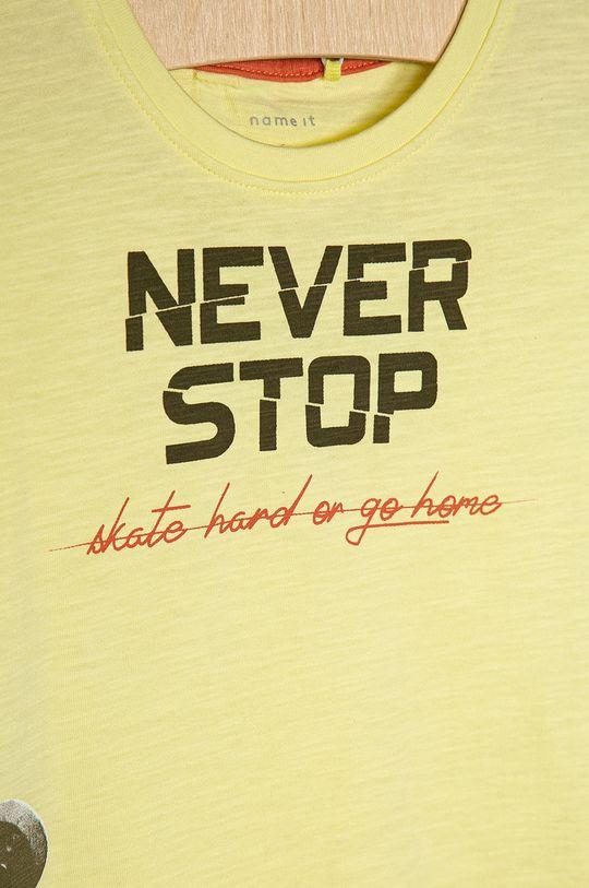 Name it - Dětské tričko 116-152 cm jasně žlutá