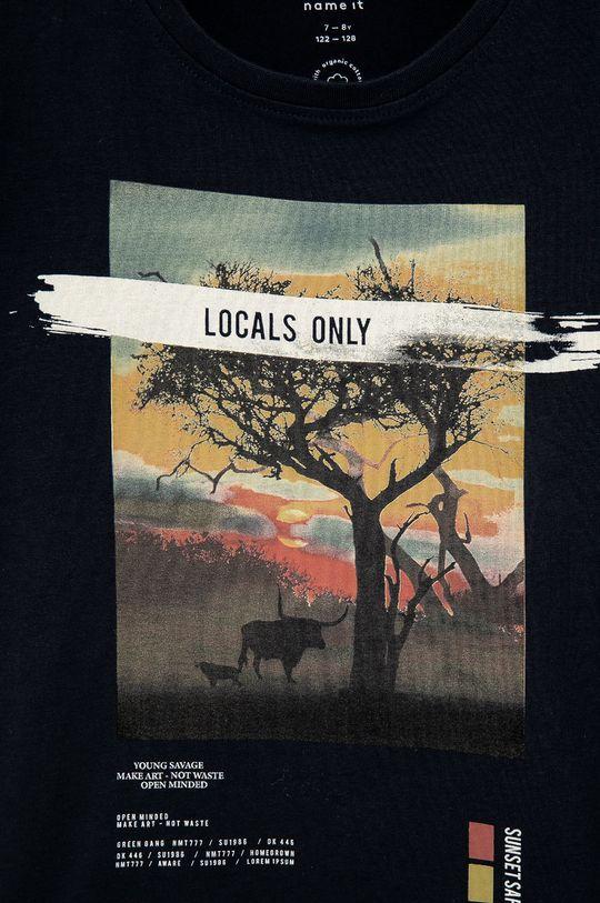 Name it - T-shirt dziecięcy 95 % Bawełna organiczna, 5 % Elastan