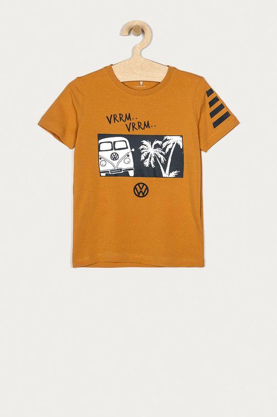 ciepły oliwkowy Name it - T-shirt dziecięcy 116-152 cm Chłopięcy