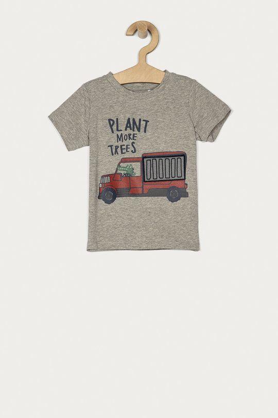 szary Name it - T-shirt dziecięcy 80-110 cm Chłopięcy