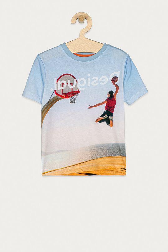 světle modrá Desigual - Dětské tričko 104-164 cm Chlapecký