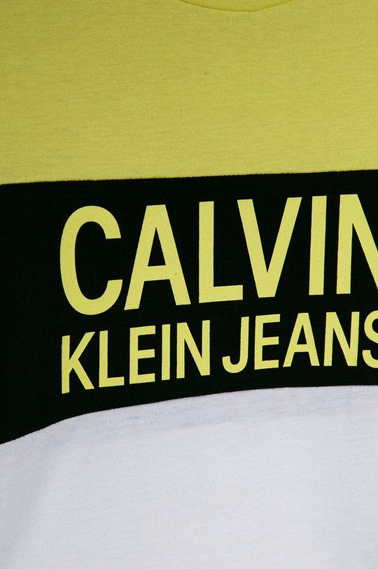 Calvin Klein Jeans - T-shirt dziecięcy 104-176 cm jasny żółty