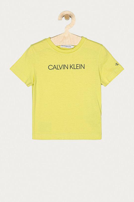 žlutě zelená Calvin Klein Jeans - Dětské tričko 104-176 cm Chlapecký