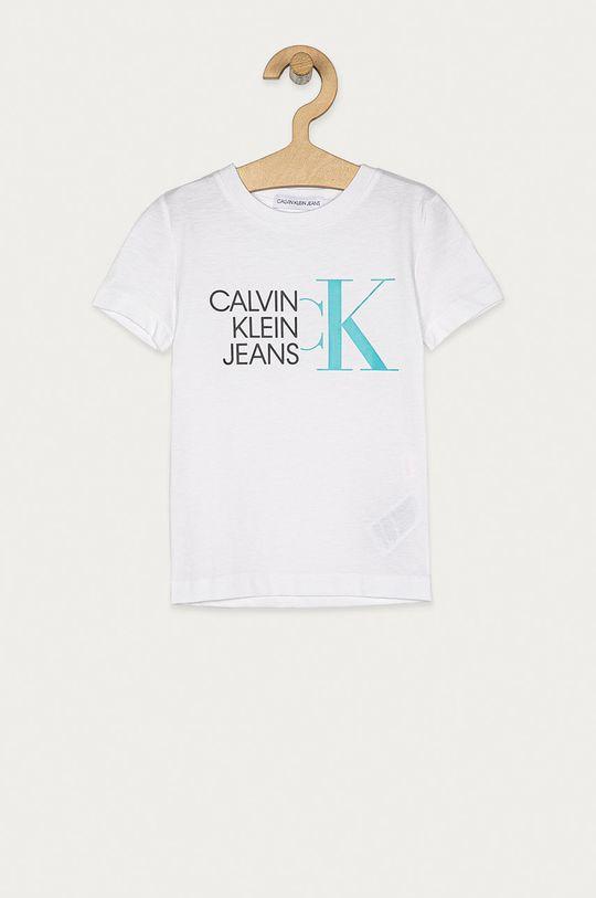 biela Calvin Klein Jeans - Detské tričko 104-176 cm. Chlapčenský