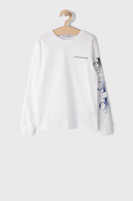 biały Calvin Klein Jeans - Longsleeve dziecięcy 140-176 cm Chłopięcy