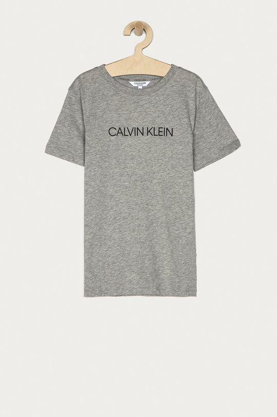 jasny szary Calvin Klein - T-shirt dziecięcy 128-176 cm Chłopięcy