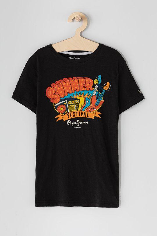 czarny Pepe Jeans - T-shirt dziecięcy Logan 128-180 cm Chłopięcy