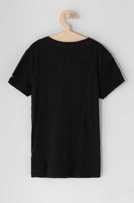 Pepe Jeans - T-shirt dziecięcy Logan 128-180 cm czarny