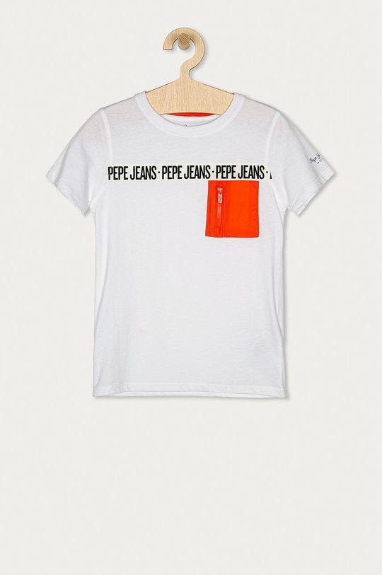 biały Pepe Jeans - T-shirt dziecięcy Gil 128-180 cm Chłopięcy