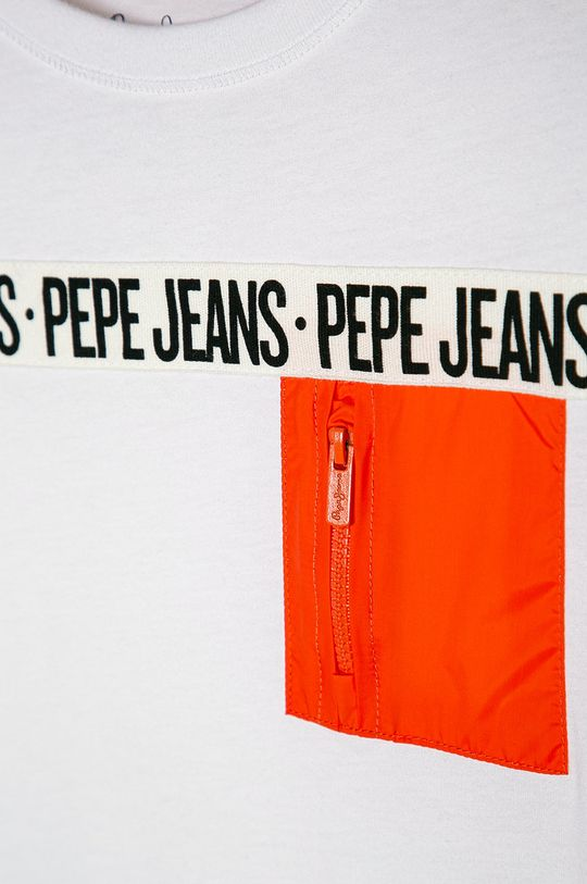 Pepe Jeans - T-shirt dziecięcy Gil 128-180 cm biały