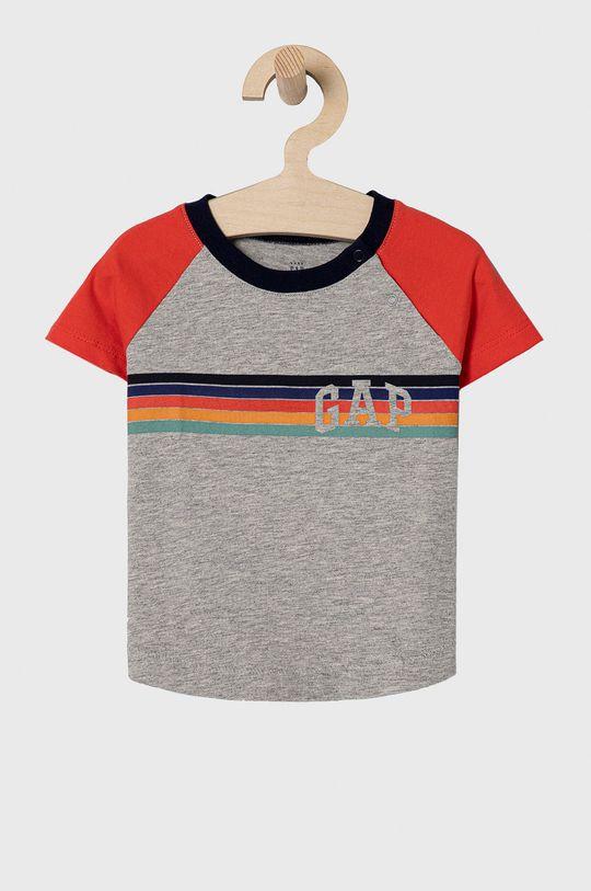szary GAP - T-shirt dziecięcy 50-86 cm Chłopięcy