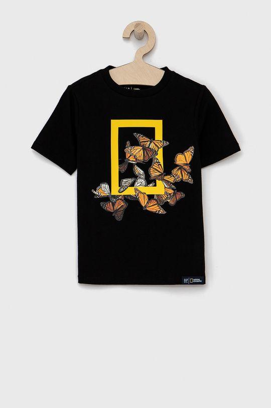 czarny GAP - T-shirt dziecięcy Chłopięcy