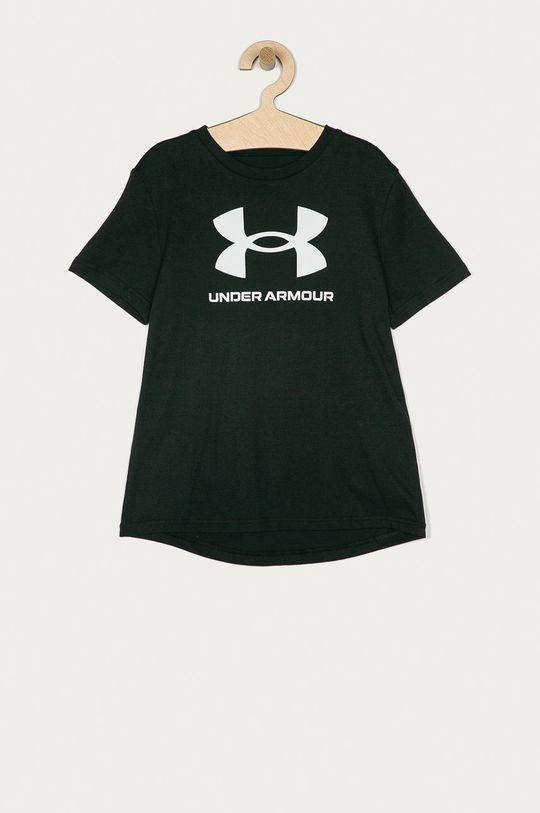 černá Under Armour - Dětské tričko 122-170 cm Chlapecký