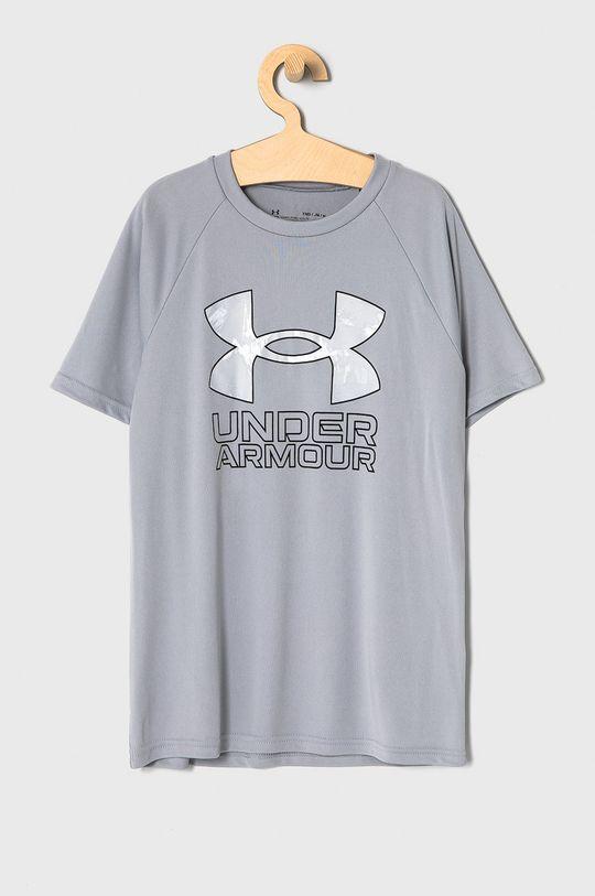 szary Under Armour - T-shirt dziecięcy 122-170 cm Chłopięcy