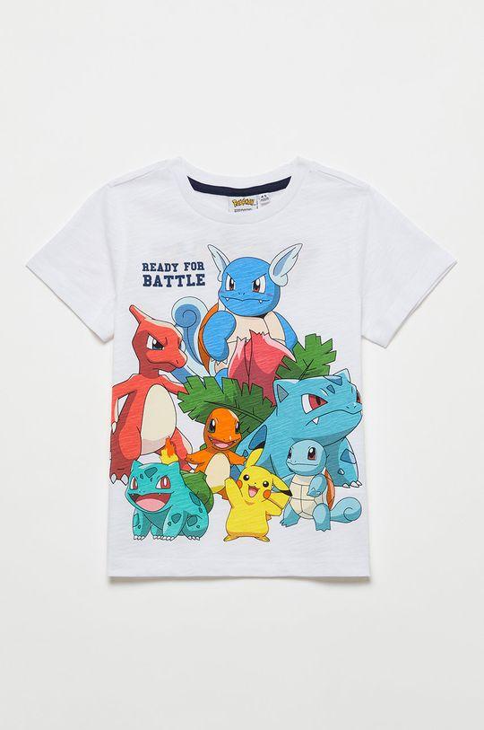 alb OVS - Tricou de bumbac pentru copii De băieți