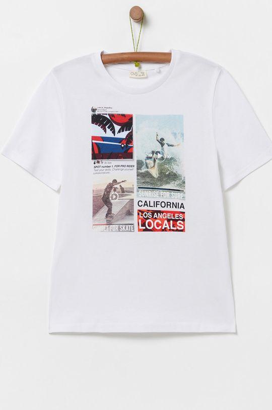 biela OVS - Detské tričko Chlapčenský