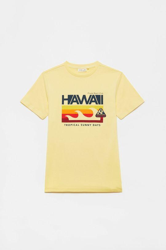 jasny żółty OVS - T-shirt dziecięcy Chłopięcy