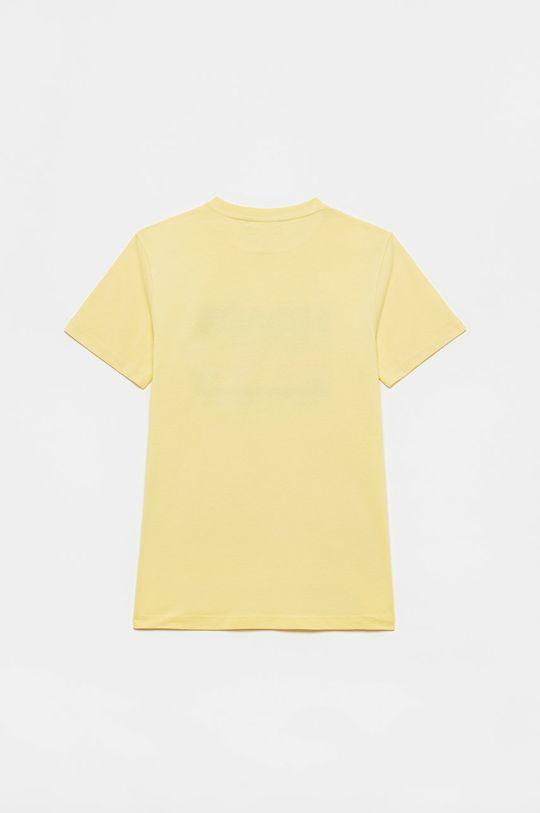 OVS - T-shirt dziecięcy jasny żółty