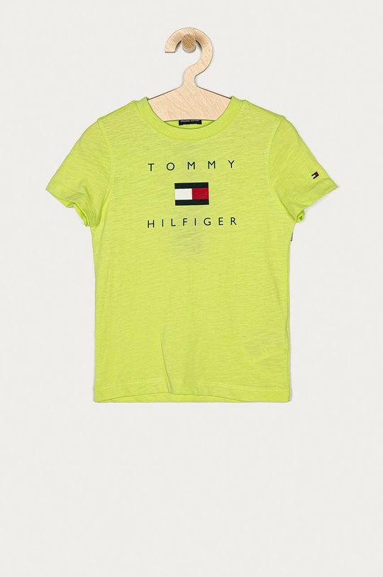 žlutě zelená Tommy Hilfiger - Dětské tričko 74-176 cm Chlapecký