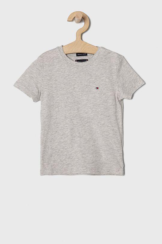 jasny szary Tommy Hilfiger - T-shirt dziecięcy 74-176 cm Chłopięcy