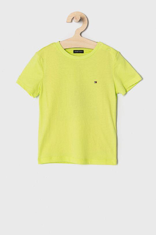 żółto - zielony Tommy Hilfiger - T-shirt dziecięcy 74-176 cm Chłopięcy