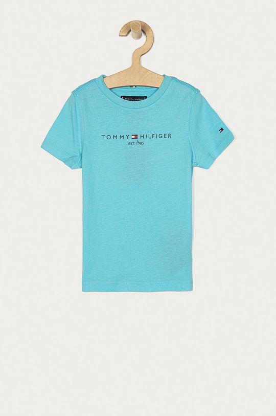 morská modrá Tommy Hilfiger - Detské tričko 74-176 cm Chlapčenský