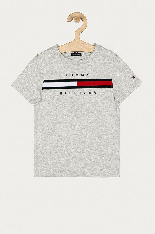 jasny szary Tommy Hilfiger - T-shirt dziecięcy 104-176 cm Chłopięcy