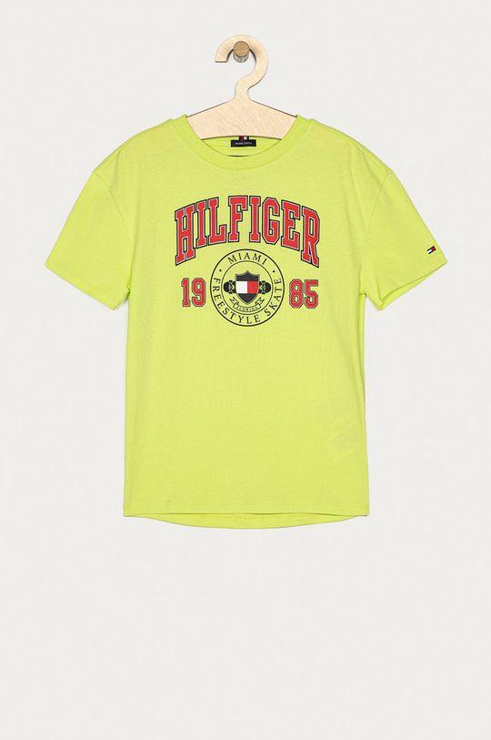 žlto-zelená Tommy Hilfiger - Detské tričko 128-176 cm Chlapčenský