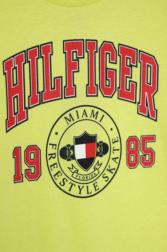 Tommy Hilfiger - Detské tričko 128-176 cm žlto-zelená