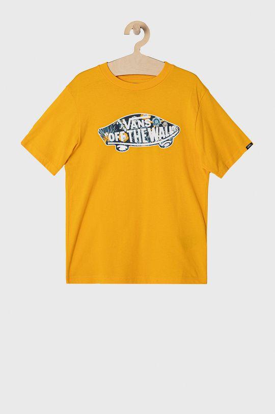 żółty Vans - T-shirt dziecięcy 129-173 cm Chłopięcy