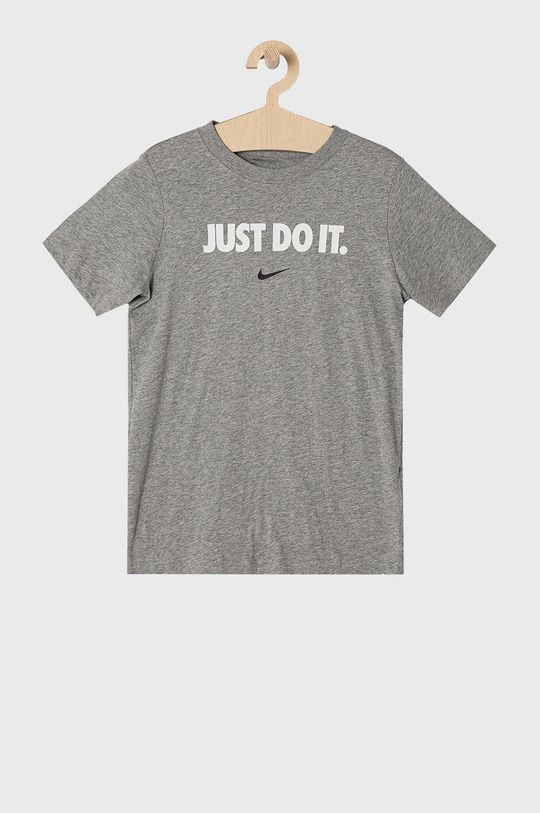 jasny szary Nike Kids - T-shirt dziecięcy 122-170 cm Chłopięcy
